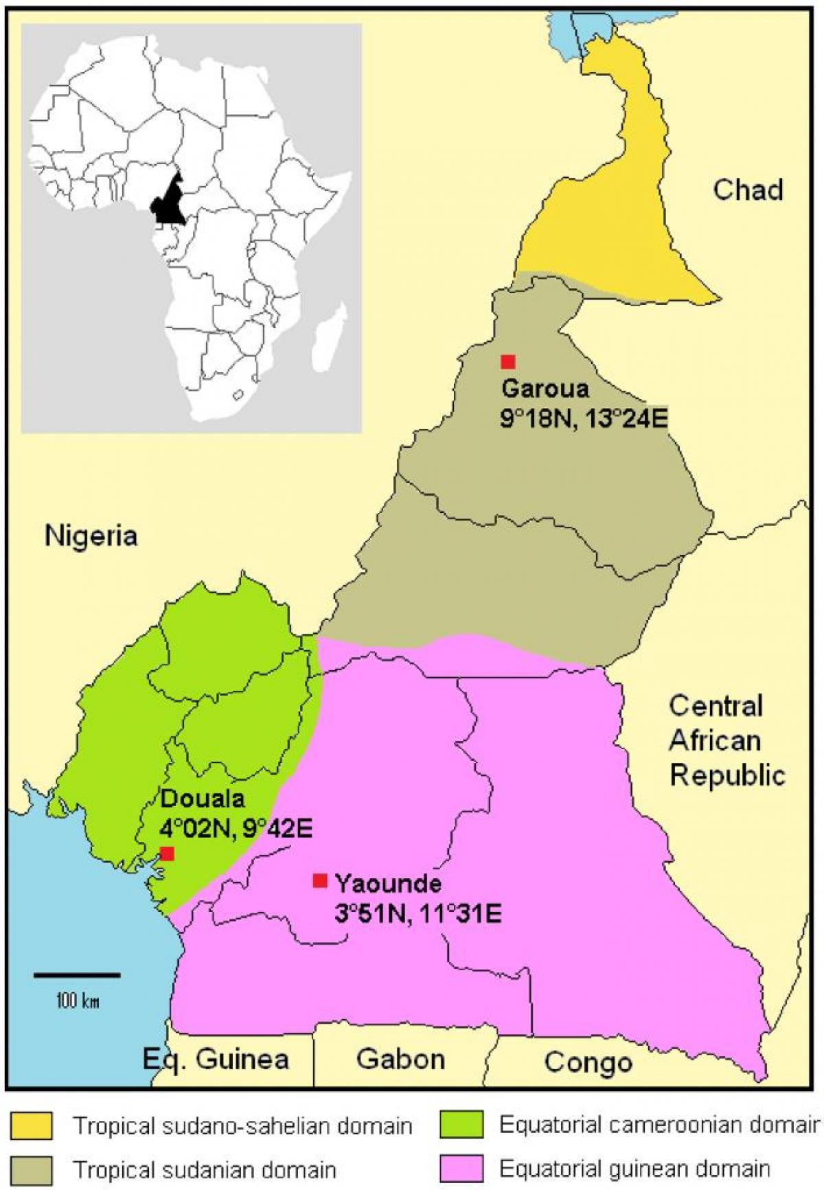 Map of Cameroon climate