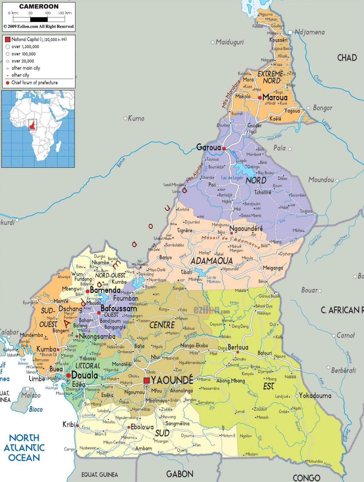 Cameroon map regions