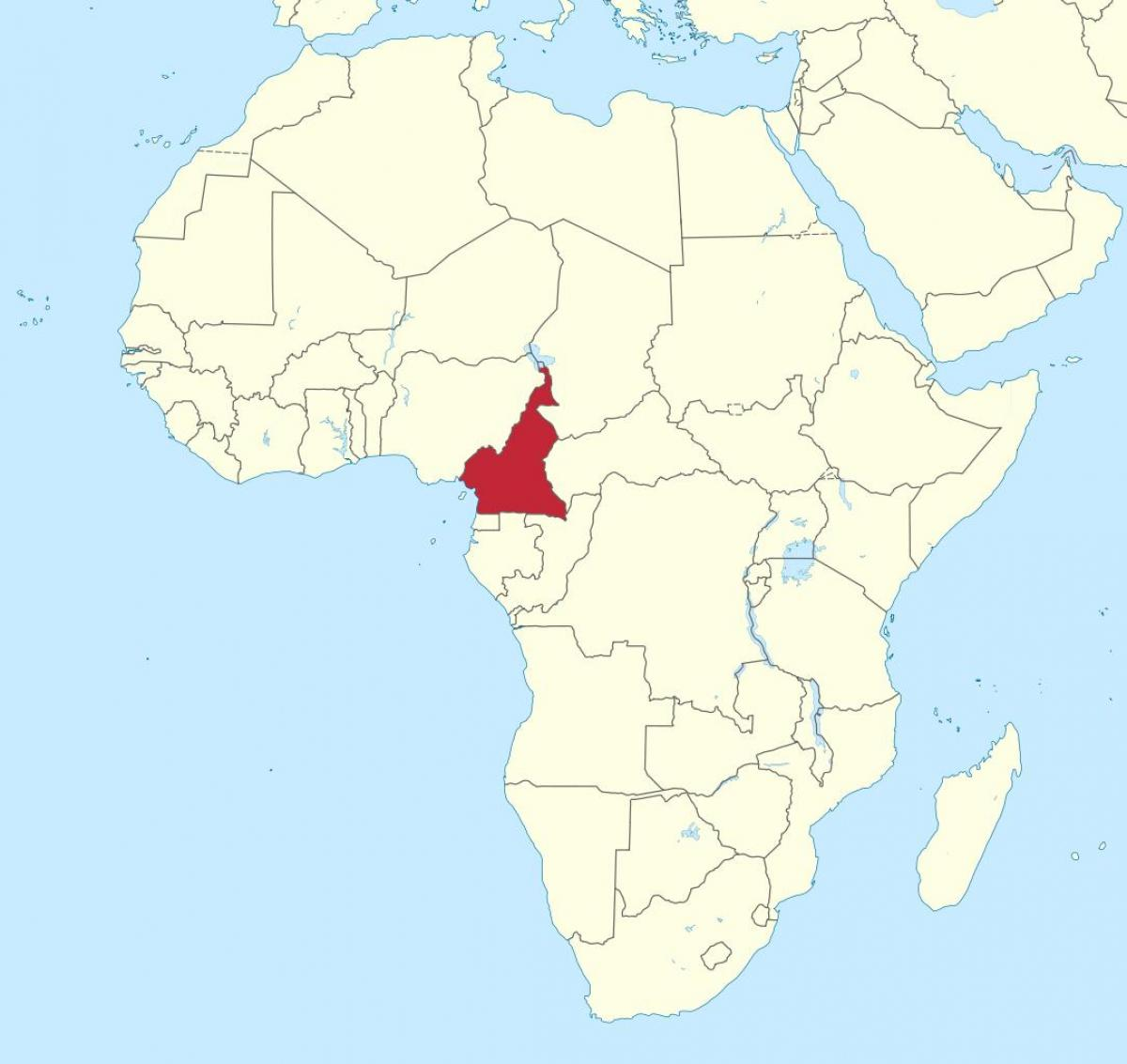 Map Of Africa Cameroon.Cameroon West Africa Map Map Of Cameroon West Africa