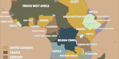 Map of british Cameroon