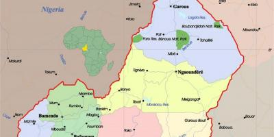 Cameroon map with cities