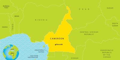 Map of Cameroon and surrounding countries