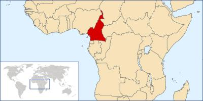 Map of Cameroon location