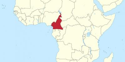 Map of Cameroon west africa