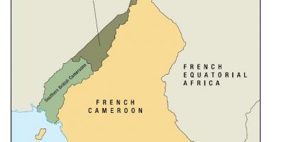 Map of uno state of Cameroon