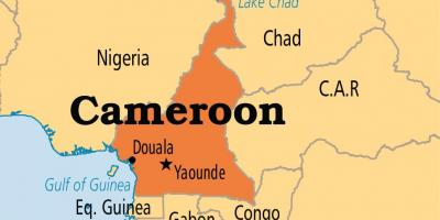 Map of yaounde Cameroon